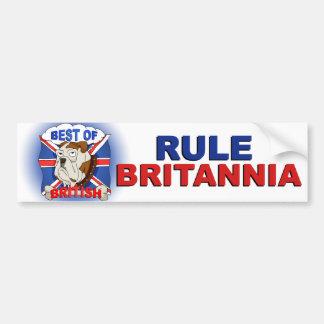 Best of British Cartoon Bulldog Bumper Sticker