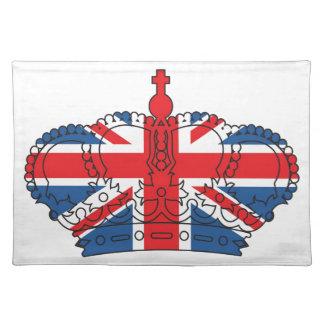 Best of British, Crown, Union Jack Cloth Placemat