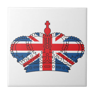Best of British, Crown, Union Jack Small Square Tile