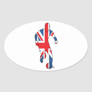 Best of British, Football Oval Sticker