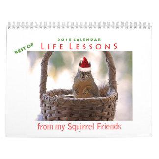 Best of Life Lessons Squirrel Calendar 2015