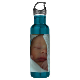Best of Mom and Dad New Baby custom 24oz Water Bottle