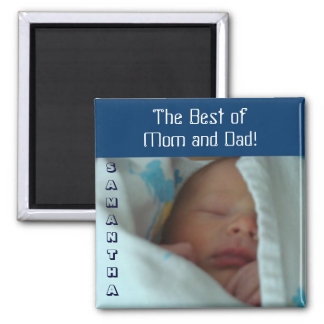 Best of Mom & Dad baby magnets gifts Personalized