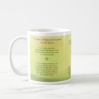 Best of Pride and Prejudice Jane Austen Quotes Classic White Coffee Mug