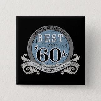 Best of the Decade '60s Blue Button