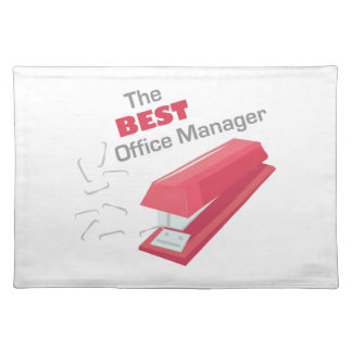 Best Office Manager Cloth Place Mat
