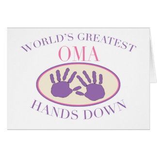Best Oma Hands Down T-shirt Card