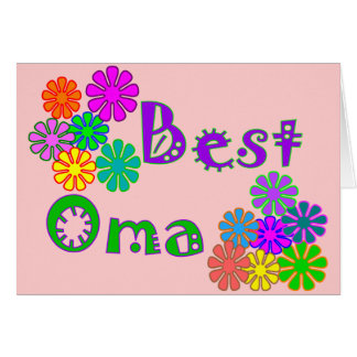 Best Oma  Mother's Day Gifts Card