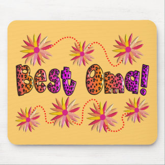 Best OMA PINK ORANGE FLOWERS Mouse Pad
