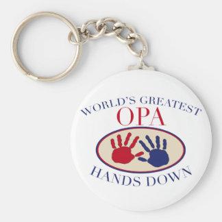 Best Opa Hands Down Keychain