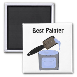 Best Painter 2 Inch Square Magnet