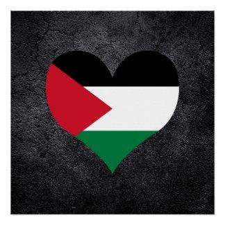 Best Palestinian Heart flag Poster