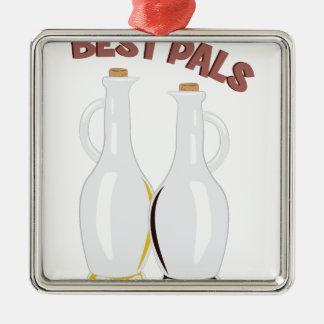 Best Pals Metal Ornament