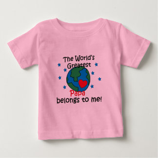 Best Papa Belongs to me Baby T-Shirt