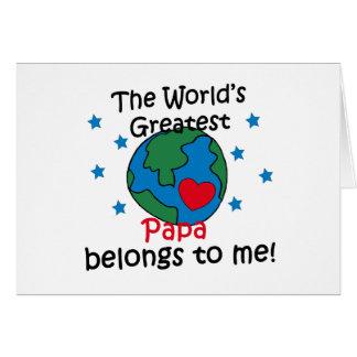 Best Papa Belongs to me Greeting Card