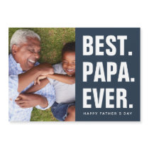 Best. Papa. Ever. Father's Day Magnetic Photo Card