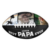 BEST PAPA EVER Modern Cool Color Photo Collage Football