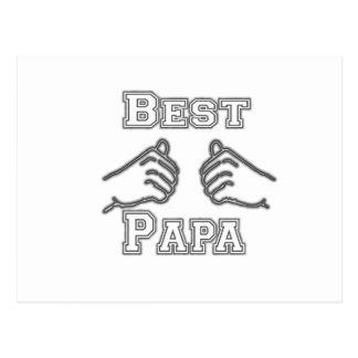 Best Papa Grandpa Hands Pawpaw Love Fathers Day Postcard