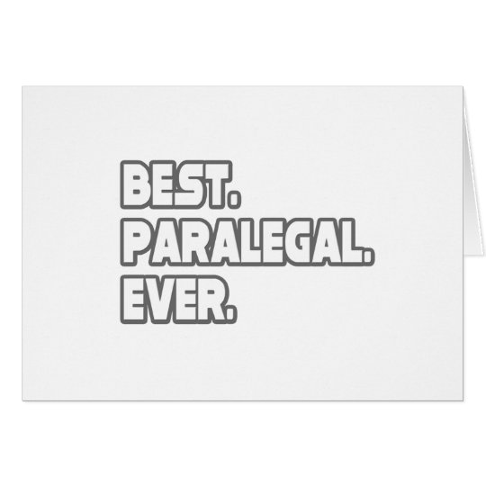 Best Paralegal Ever Card