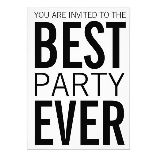 Best Party Ever Custom Invites