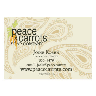 Best Peace and Carrots Soap Company Business Card