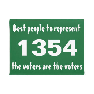 Best people to represent the voters are the voters doormat