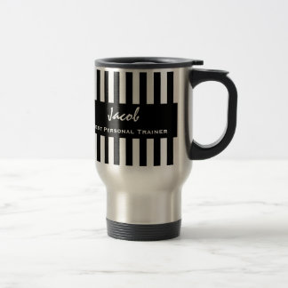 Best PERSONAL TRAINER Black White Striped Pattern Mugs