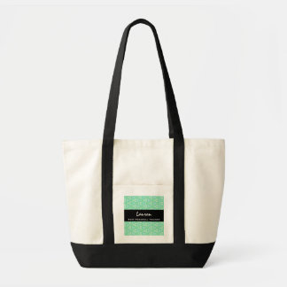 Best PERSONAL TRAINER Mint Green Geometric Pattern Tote Bag