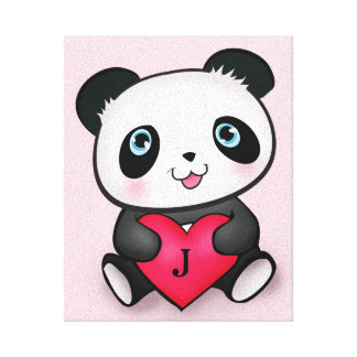 Best Personalized Panda Fan Room Decoration Gift Canvas Print