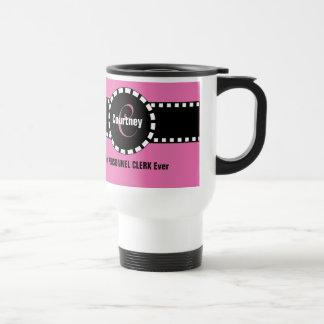 Best PERSONNEL CLERK Ever Monogram Custom Name V5 Travel Mug