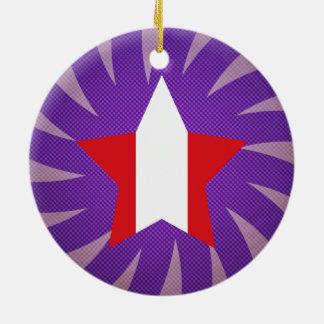 Best Peru Flag Design Ceramic Ornament