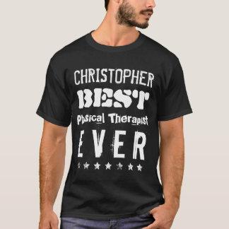 Best PHYSICAL THERAPIST Ever Fun Grunge Text B12G1 T-Shirt