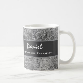 Best PHYSICAL THERAPIST Gray Marble Look Gift V2 Coffee Mug