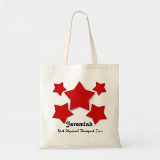 Best PHYSICAL THERAPIST Red 3D Look Stars W05D2 Canvas Bags
