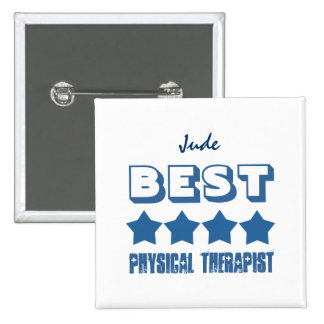 Best Physical Therapist with Stars BLUE V01 Button