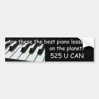 Best piano lessons bumper sticker