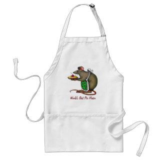 Best Pie Maker: Cute Rat Holding Pie: Color Pencil Adult Apron