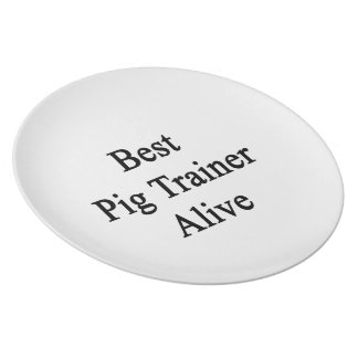 Best Pig Trainer Alive Party Plates