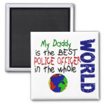 Best Police Officer In World 2 (Daddy) 2 Inch Square Magnet