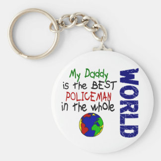 Best Policeman In World 2 (Daddy) Keychain