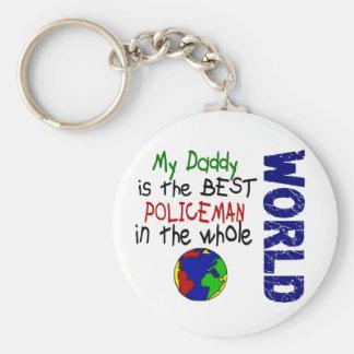 Best Policeman In World 2 (Daddy) Basic Round Button Keychain
