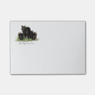 Best Poppa Bear Ever Fun Family Quote for Dad Post-it Notes