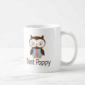 Best Poppy Owl Classic White Coffee Mug