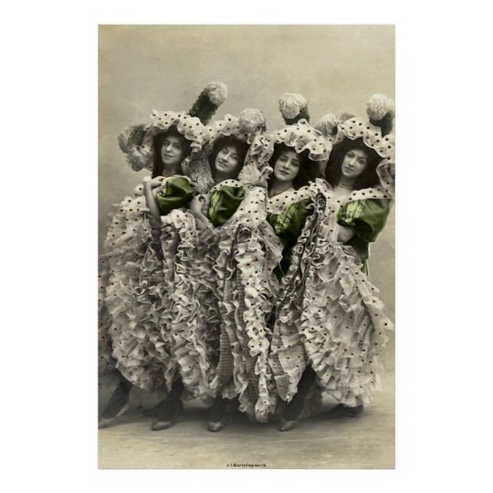 BEST POSTERS - HUMOR - CANCAN DANCERS - PHOTOGRAPH