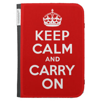 Best Price Authentic Keep Calm And Carry On Red Cases For Kindle
