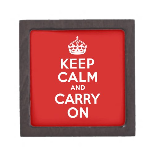 Best Price Authentic Keep Calm And Carry On Red Premium Gift Box