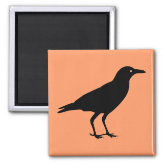 Best Price Black Crow Orange Halloween Refrigerator Magnet