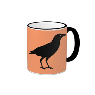 Best Price Crow Orange and Black Halloween Ringer Coffee Mug