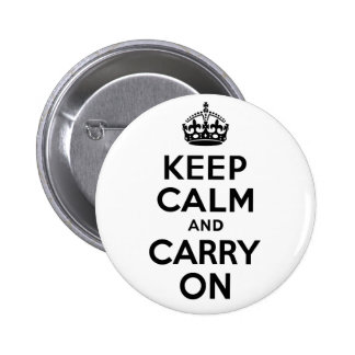 Best Price Keep Calm And Carry On Black 2 Inch Round Button