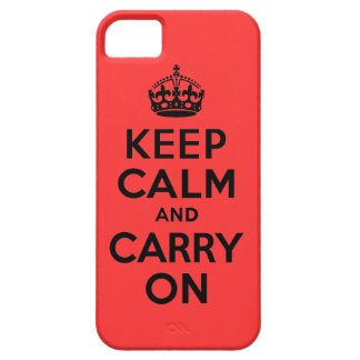 Best Price Keep Calm And Carry On Black and Red iPhone SE/5/5s Case